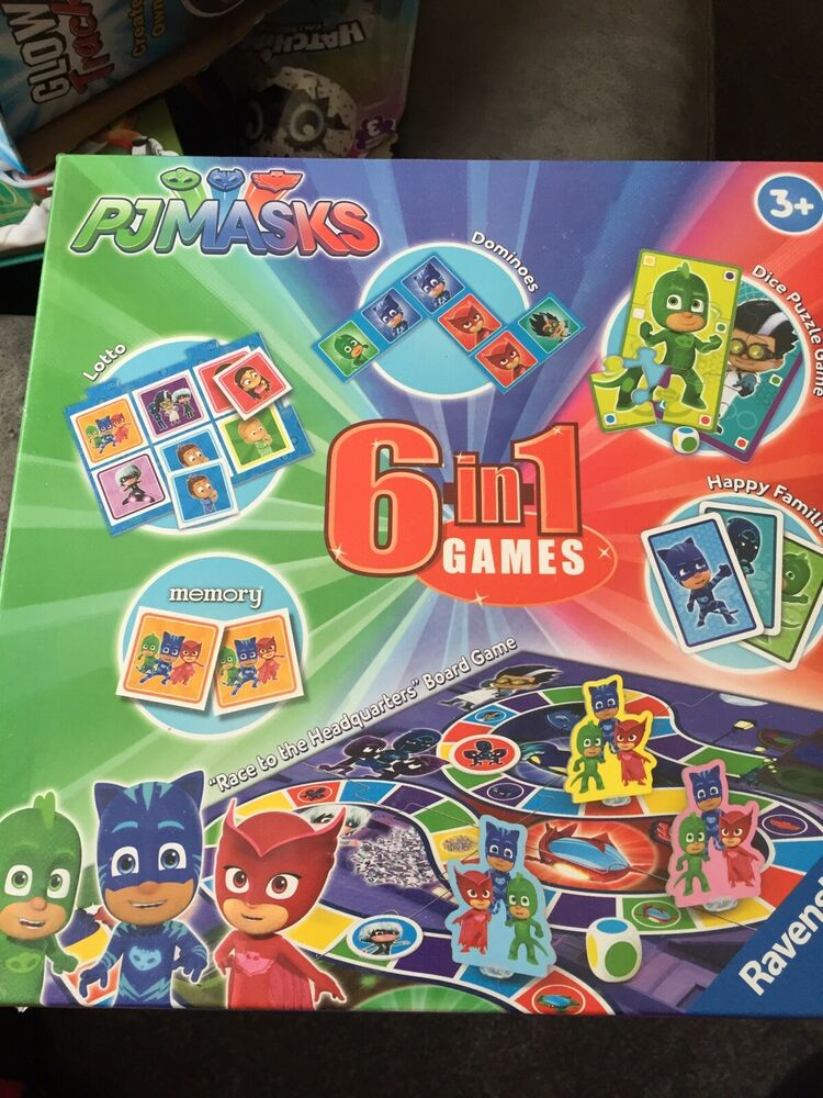 Ravensburger PJ Masks 6 in 1 Games Box Childrens Toys