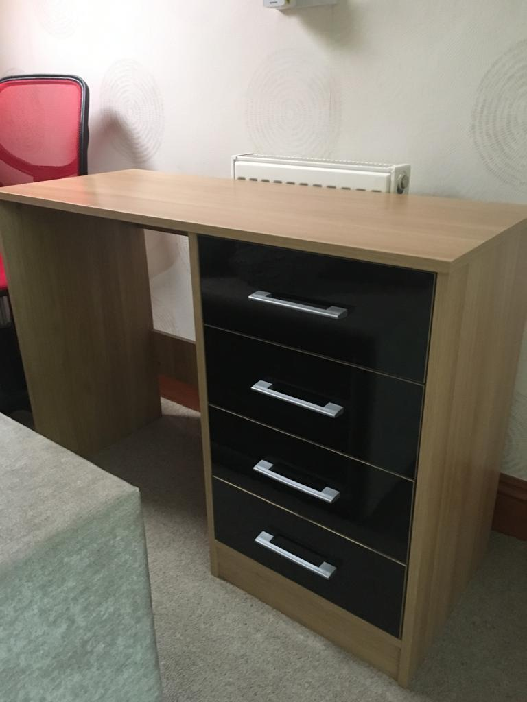 Small bedroom desk and chair