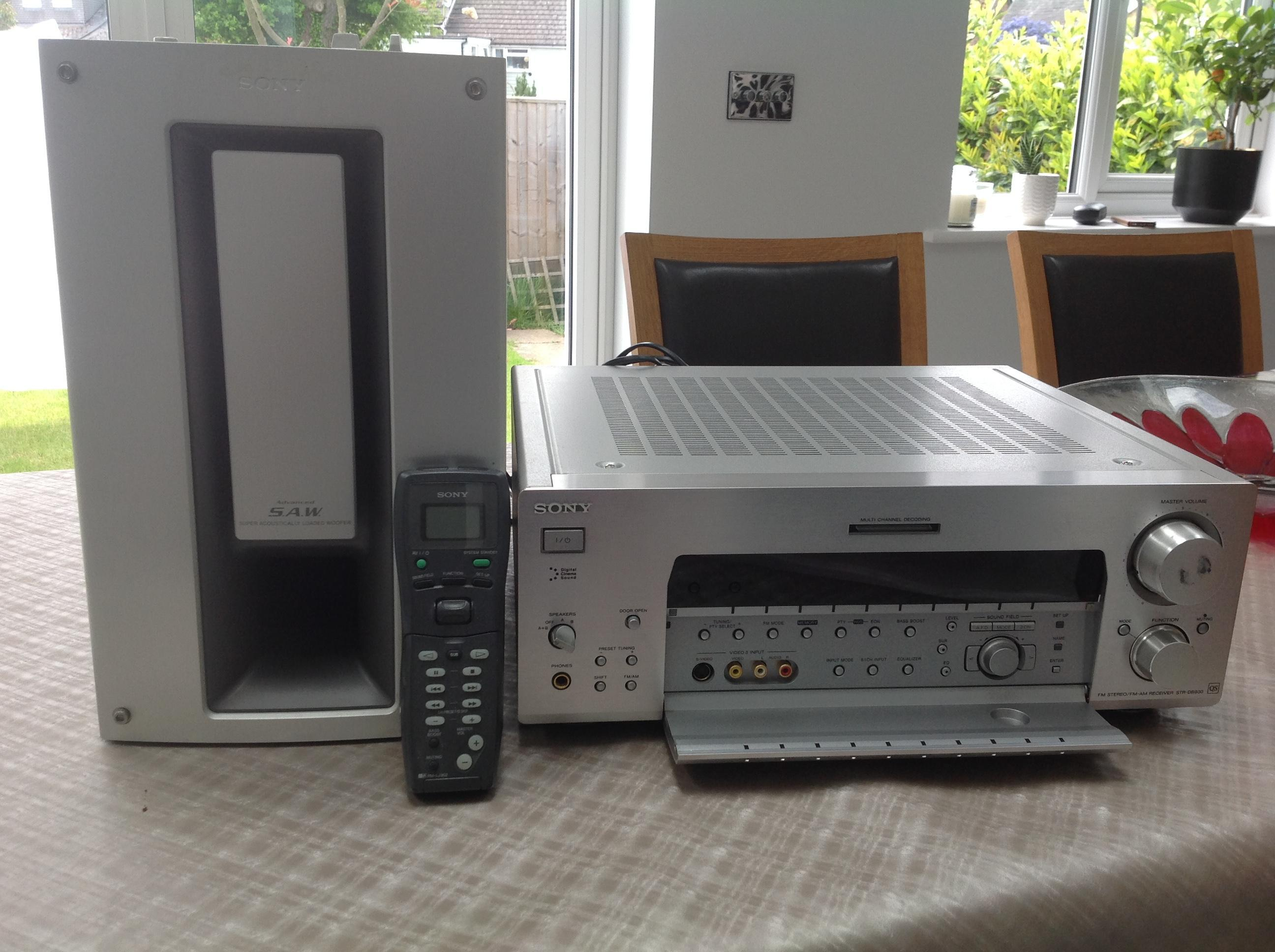 Sony home entertainment & surround sound system exc.