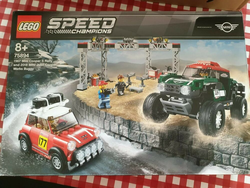 LEGO speed champions Mini Cooper's Rally &  MINI John