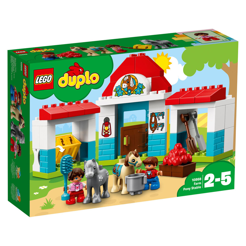 Lego UK Duplo Farm Pony Stable Toddler Toy ()