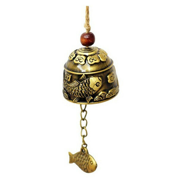 1Pc Chinese Traditional Dragon or Fish Feng Shui Bell