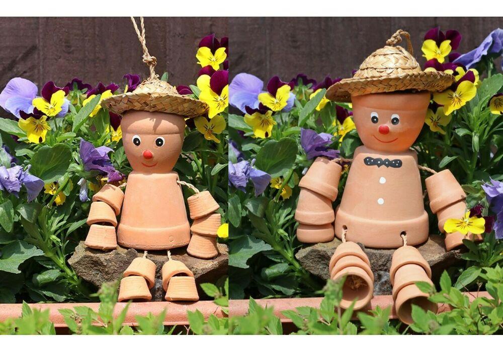 Buy Bill & Ben / 2 Flower Pot Men Terracotta Hang Garden