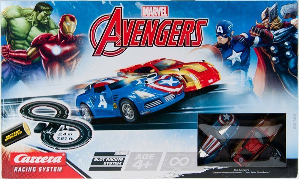 Marvel Avengers Carrera Slot Car Racing System Figure-8 Kart