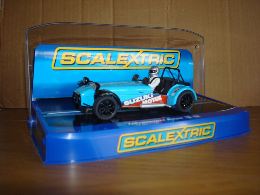 SCALEXTRIC C CATERHAM R500 BLUE #19 CAR - MINT, BOXED