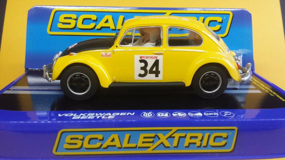 SCALEXTRIC C VW BEETLE  MONTE CARLO CHALLENGE.