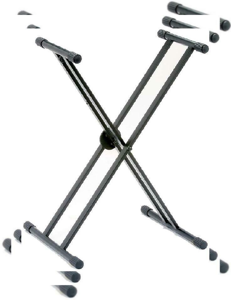 RockJam Double Braced Keyboard Stand, Easily Adjustable 29