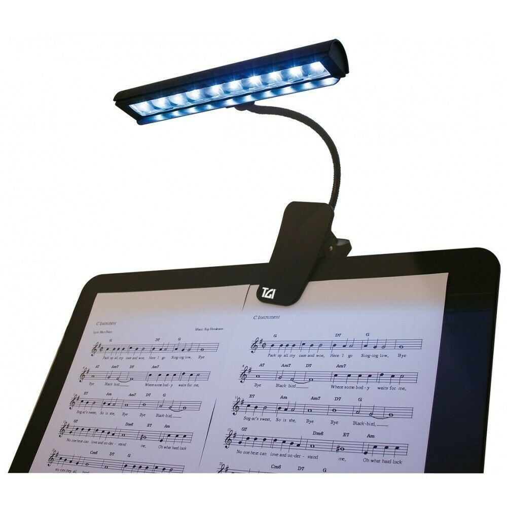 TGI Music Stand LED Lamp / Light with clip for Music Stand -