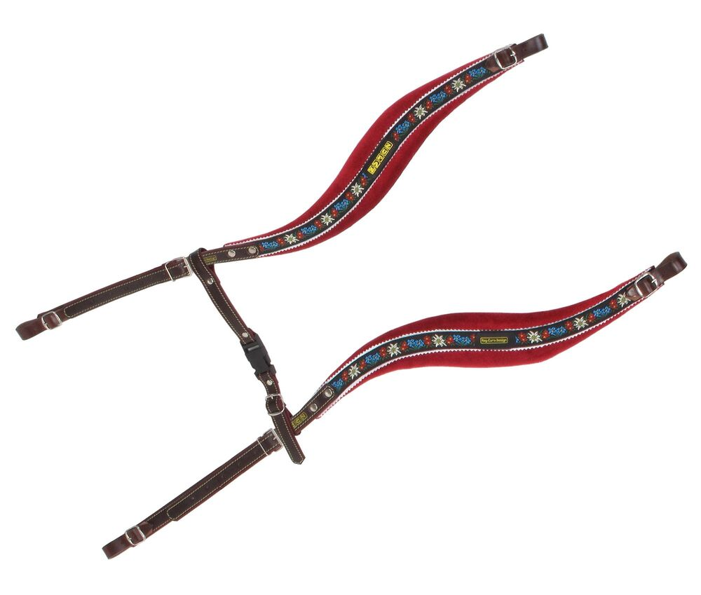 ZUPAN ADJUSTABLE LEATHER ACCORDION STRAPS EMBROIDERY