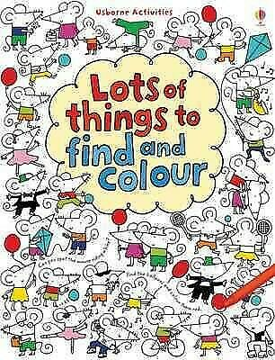 Lots of Things to Find and Colour, Paperback by Watt, Fiona;