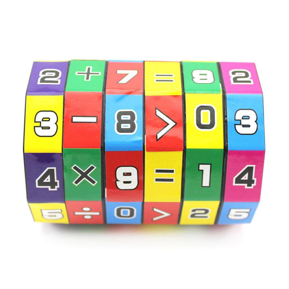 1x Children's Educational Toys Learning Math Digital Cube