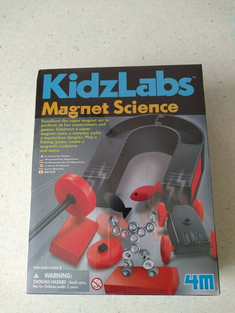 4M Kidz Labs Magnet Science Kids Fun Experiment Educational