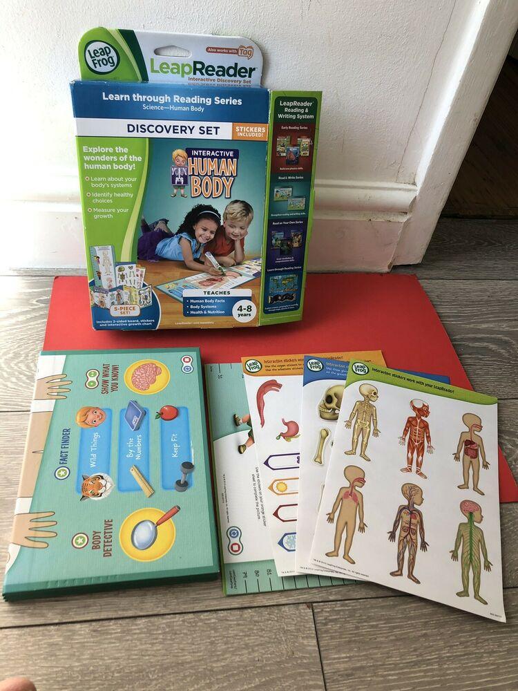 Leapfrog LeapReader Human Body Map Kids Fun Educational Game