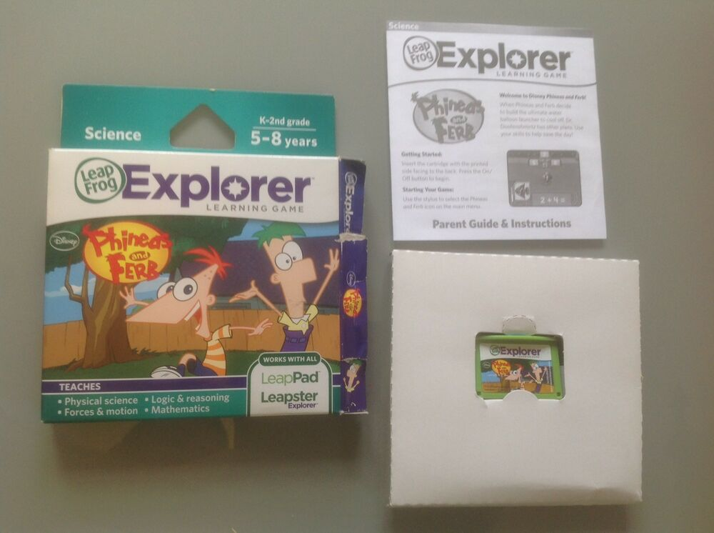 Leapfrog explorer learning game phineas and ferb