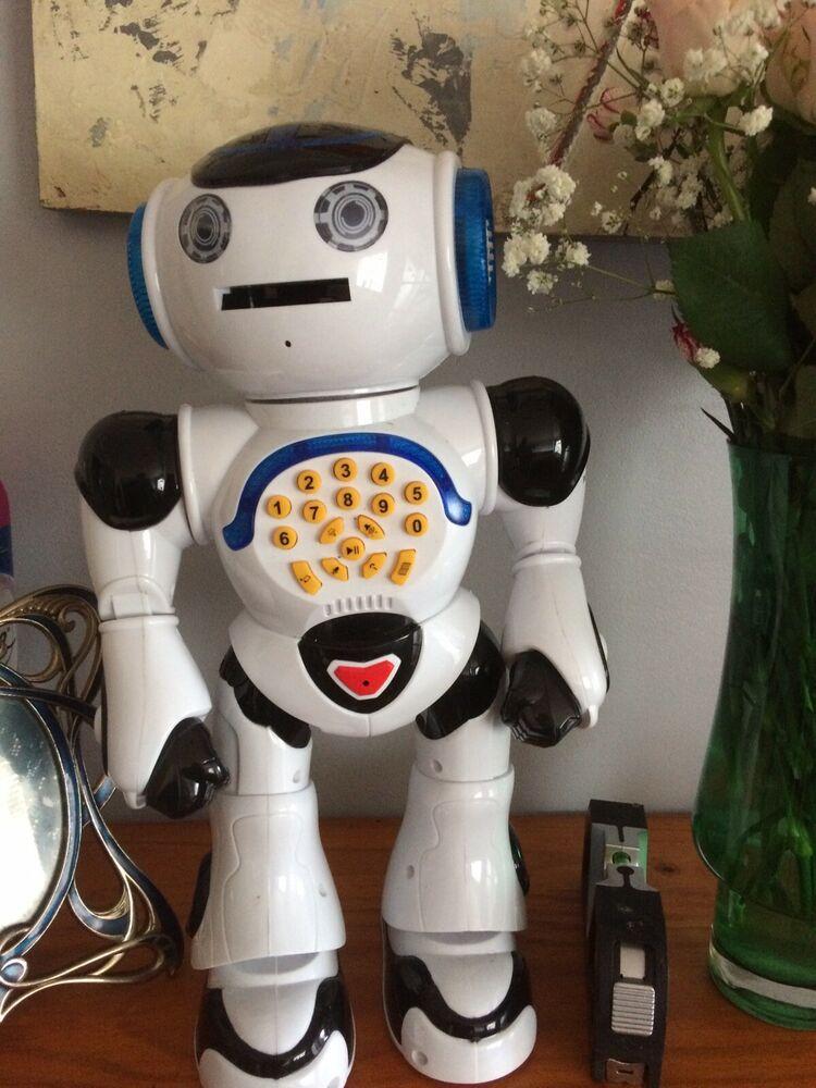 Lexibook Powerman Educational Robot Talking Toy Black/White