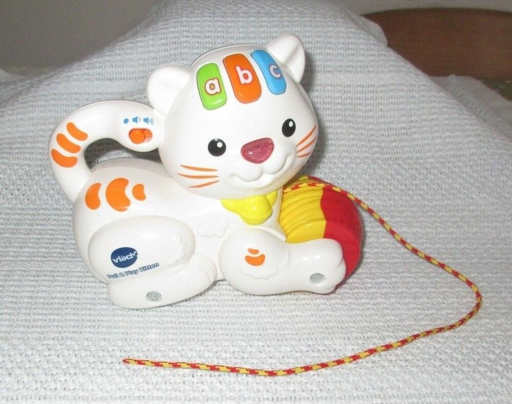 VTECH Activity Toy PULL & PLAY KITTEN Active Kids Toddlers