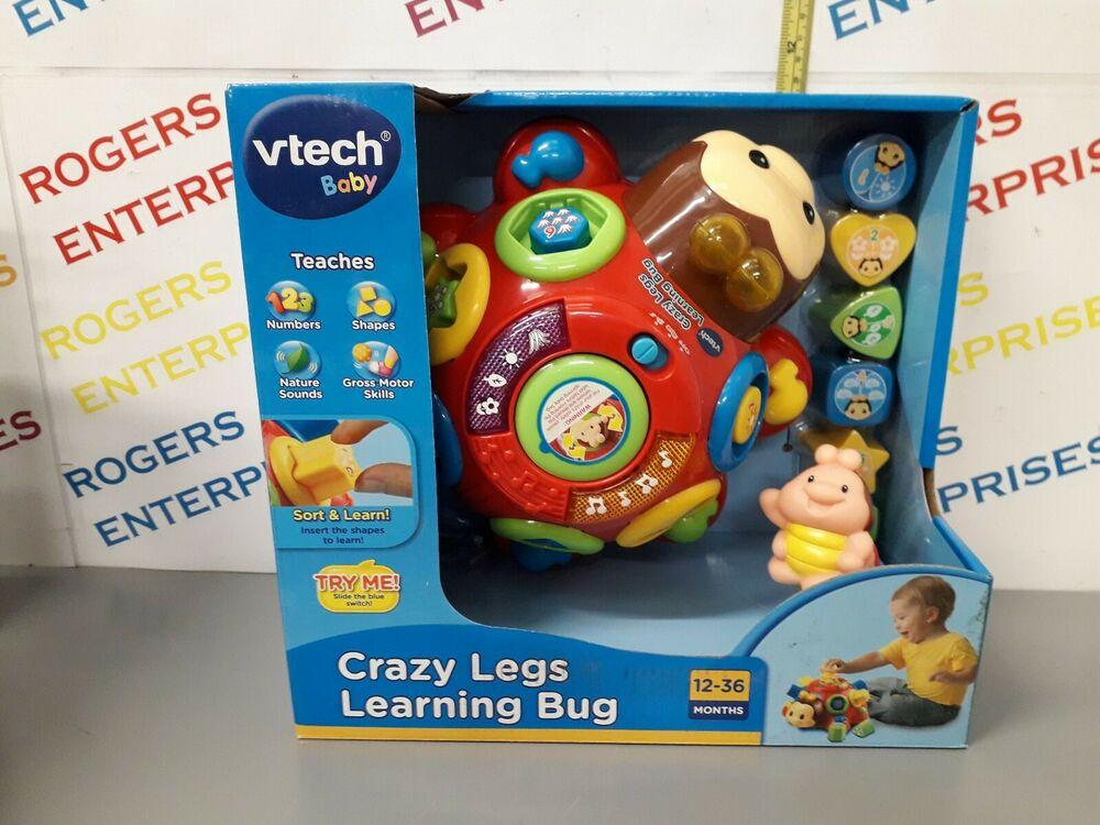 VTech Baby Crazy Legs Learning Bug Shape Sorter Music Lights