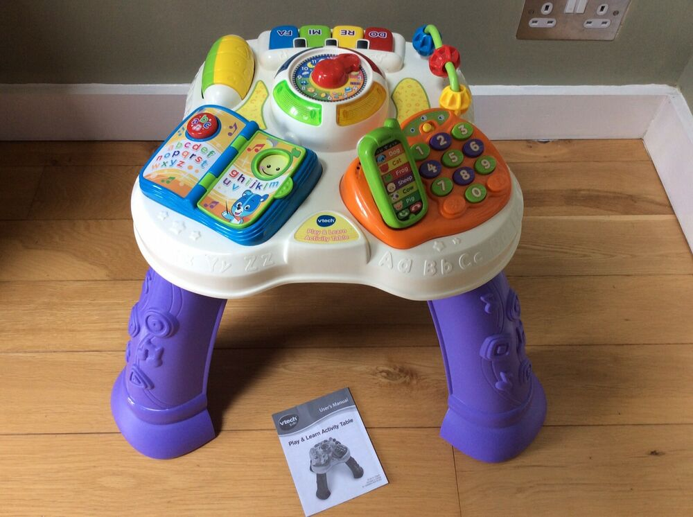 VTech Play And Learn Activity Table With User Manual In