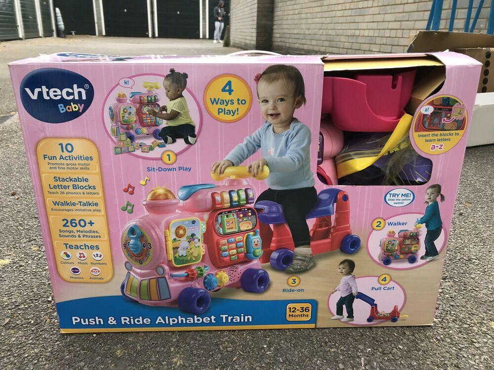 VTech Push and Ride Alphabet Train - Pink