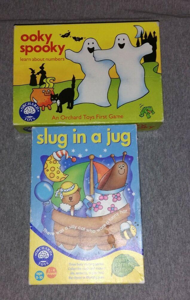 Vintage Orchard Toys Game Bundle Ooky Spooky & Slug In A Jug