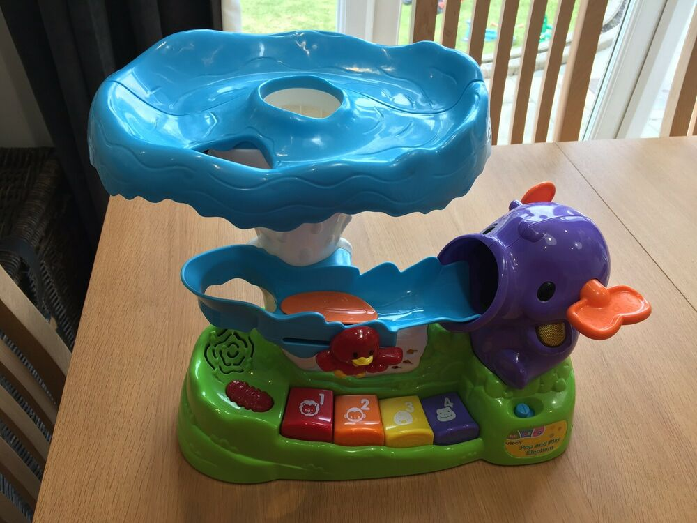 Vtech Pop And Play Elephant Baby Toy Perfect Condition