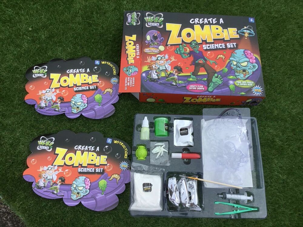 WEIRD SCIENCE MAKE & CREATE A ZOMBIE SET - Brand New - 8+
