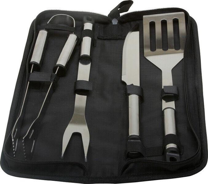 KitchenWorthy 5 Piece Stainless Steel BBQ Tool Set - CASE OF