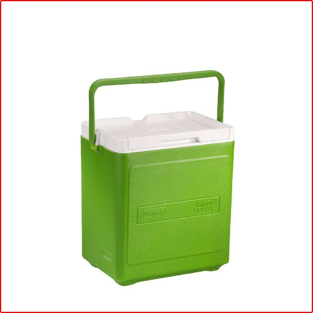 PARTY STACKER COOLER Green Thermozone Polyethylene Carrying