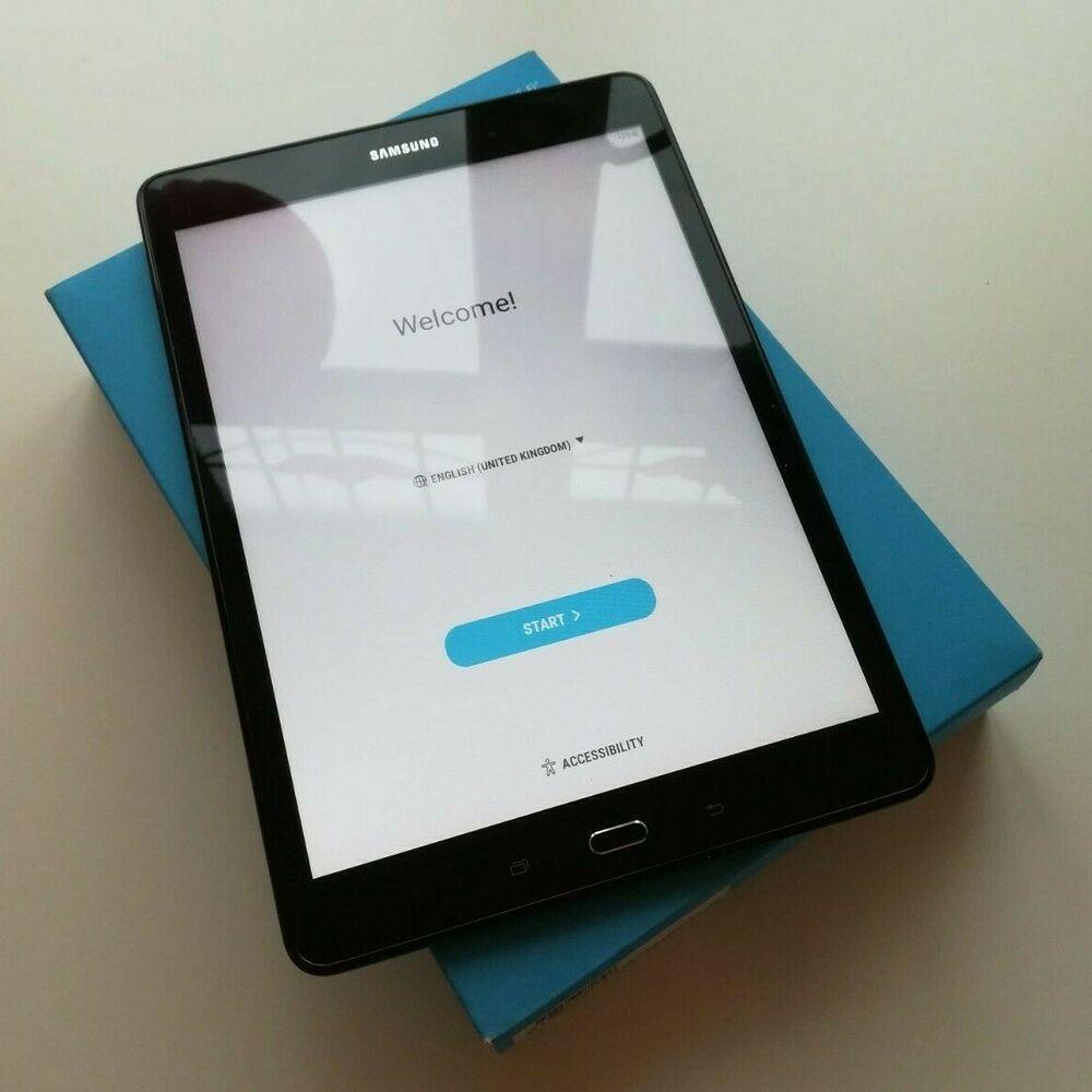 "16GB Samsung Galaxy Tab A SM-T"" - Sandy Black Android"