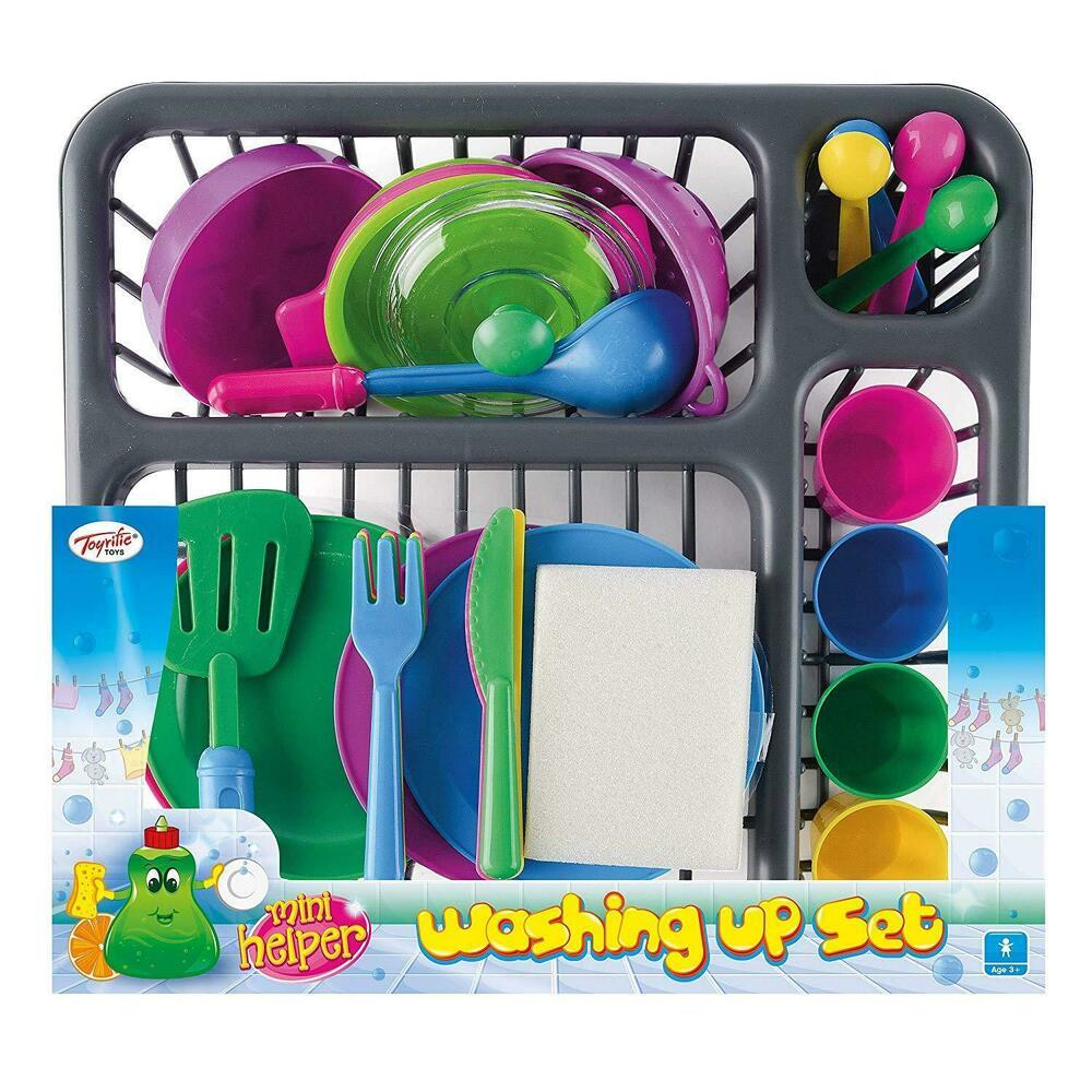 28pc Kids Kitchen Utensil Accessories Pots Pans Dishes