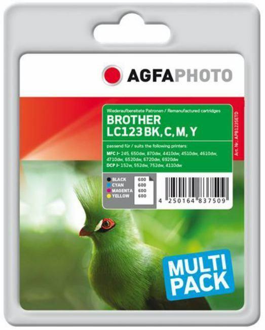 AgfaPhoto APB123SETD - Ink B/C/M/Y rpl LC123VALBPDR - 16ml +
