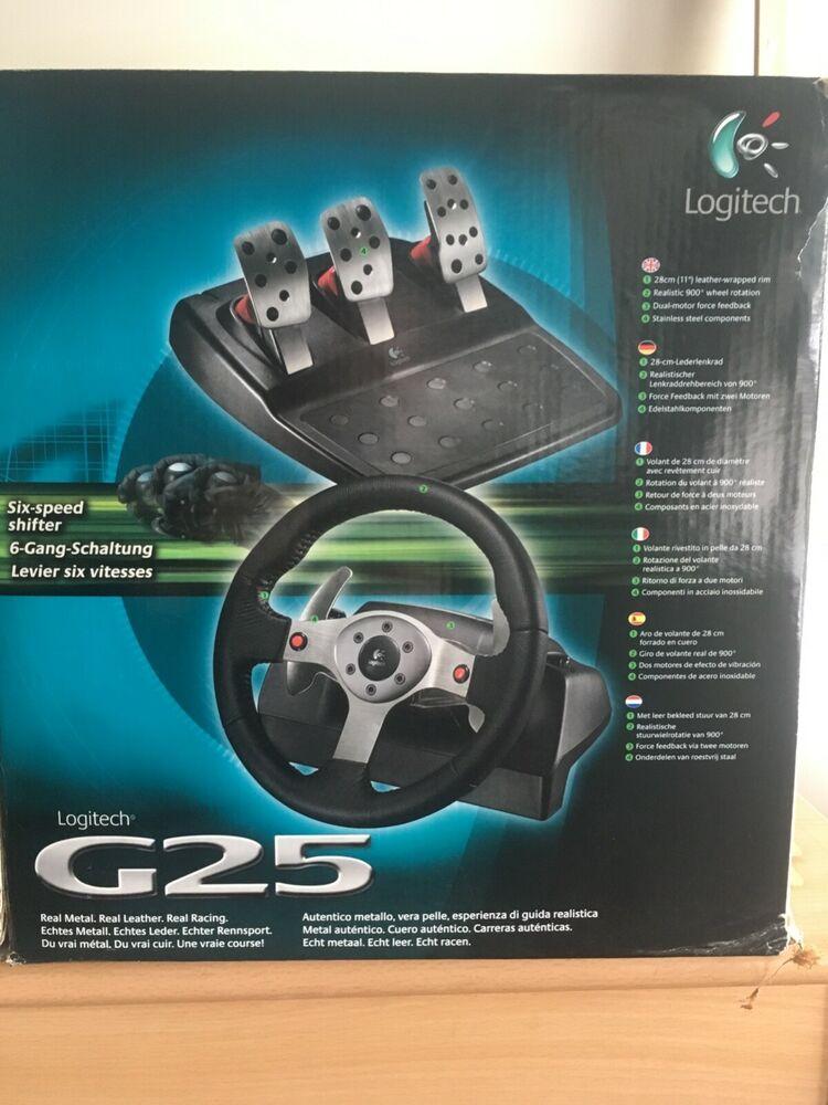 Logitech G25 Racing Wheel & Shifter - Black/Silver Ps2 PS3 &