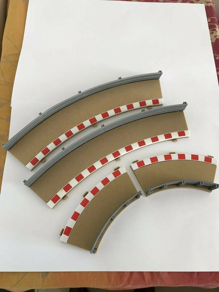 Scalextric Radius 2 Curve Outer/inner Borders And Barriers -