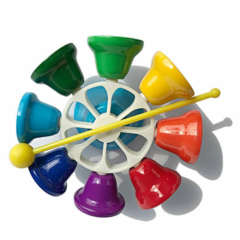 Set Of 8 Rainbow Music Bells Create Musical Instrument