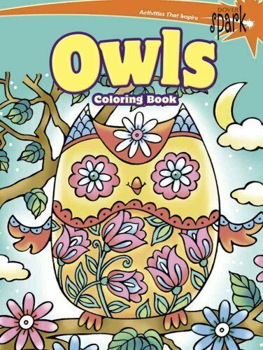 SPARK -- Owls Coloring Book by Noelle Dahlen