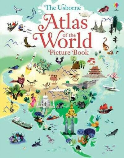 Usborne Atlas of the World Picture Book, Hardcover by Baer,