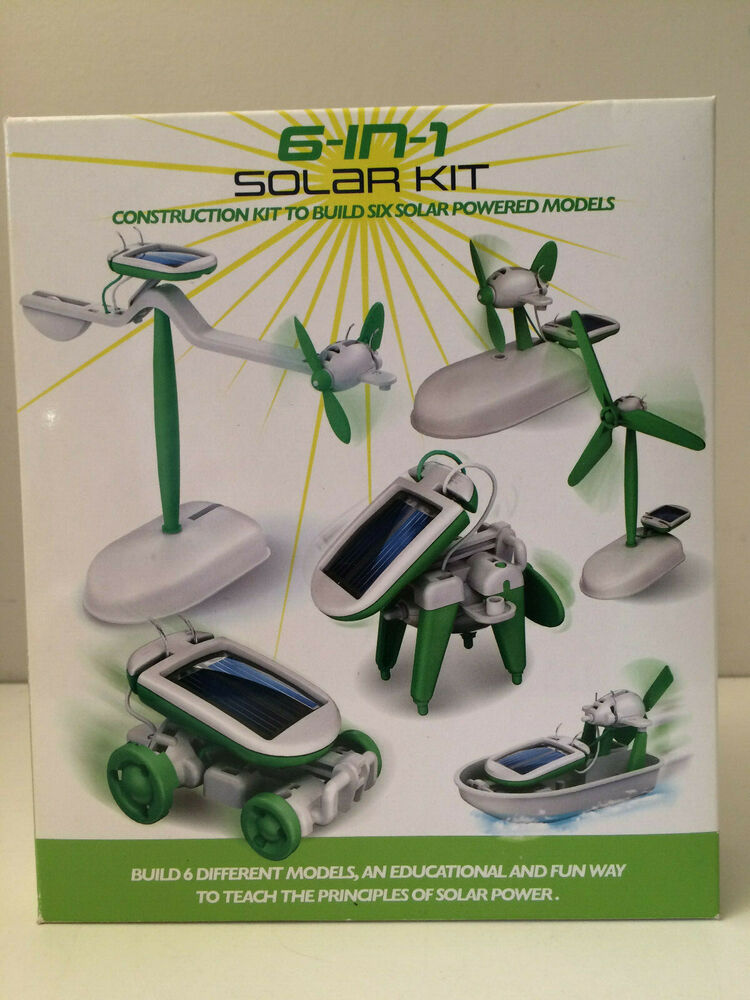 6 IN 1 SOLAR POWERED KIT SCIENCE FUN KIDS CHILDREN GAMES CAR