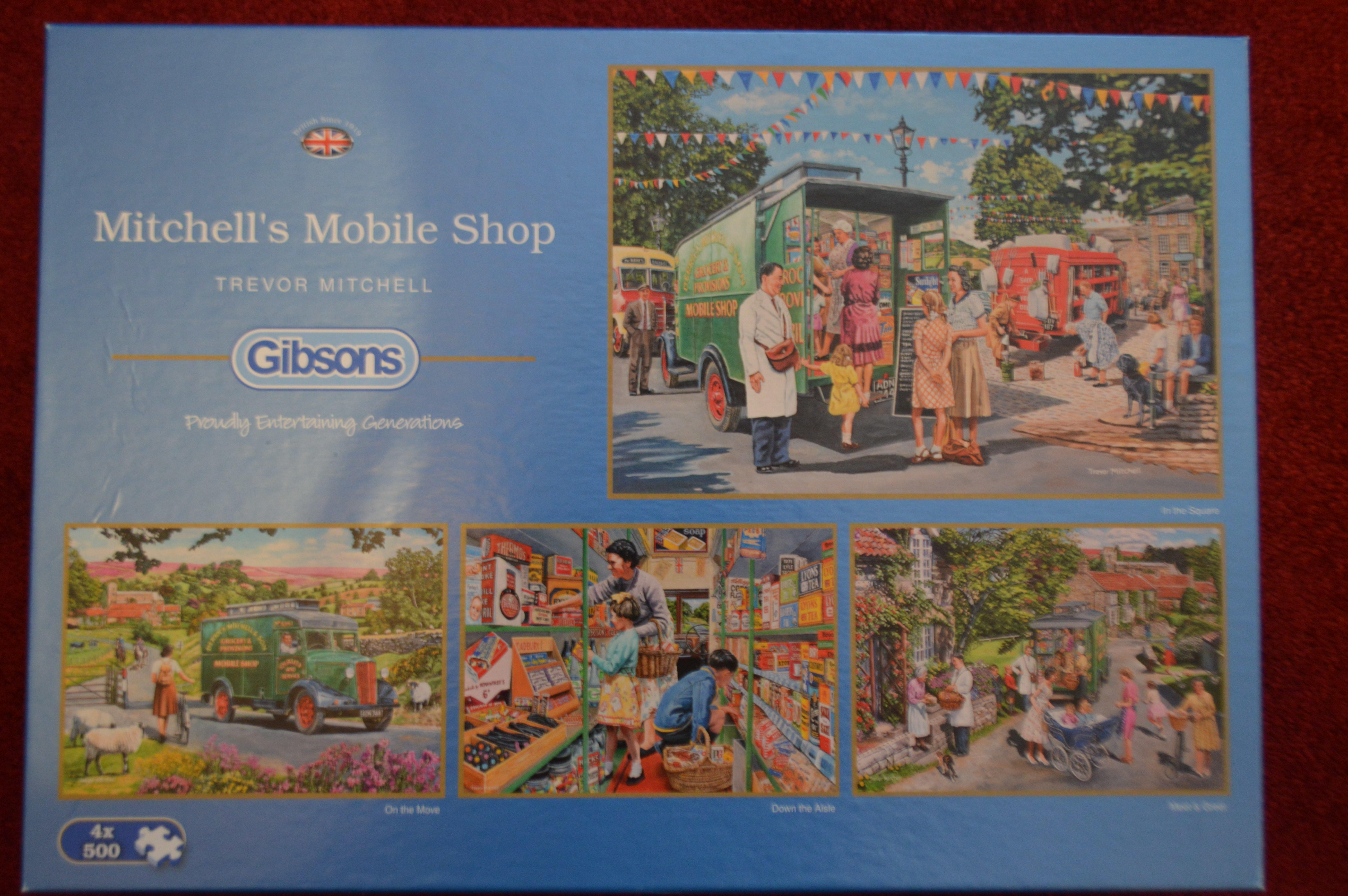 Gibsons 4 x 500 Piece Jigsaw Puzzles - MITCHELL'S MOBILE