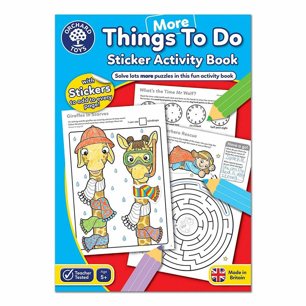 Orchard More Things To Do Sticker Activity Book CB13