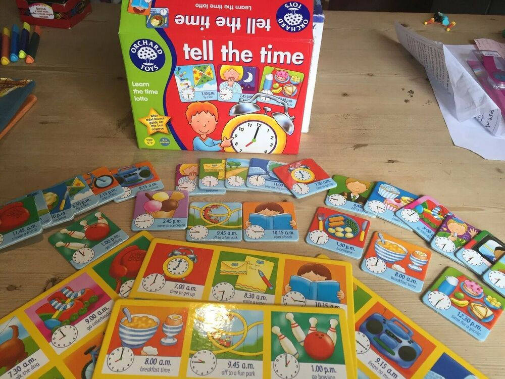 Orchard Toys Tell The Time Game Age 5-9 Years