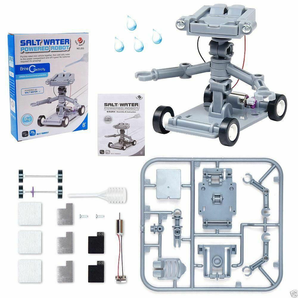 Salt Water Powered Robot Kit Kids Science Educational