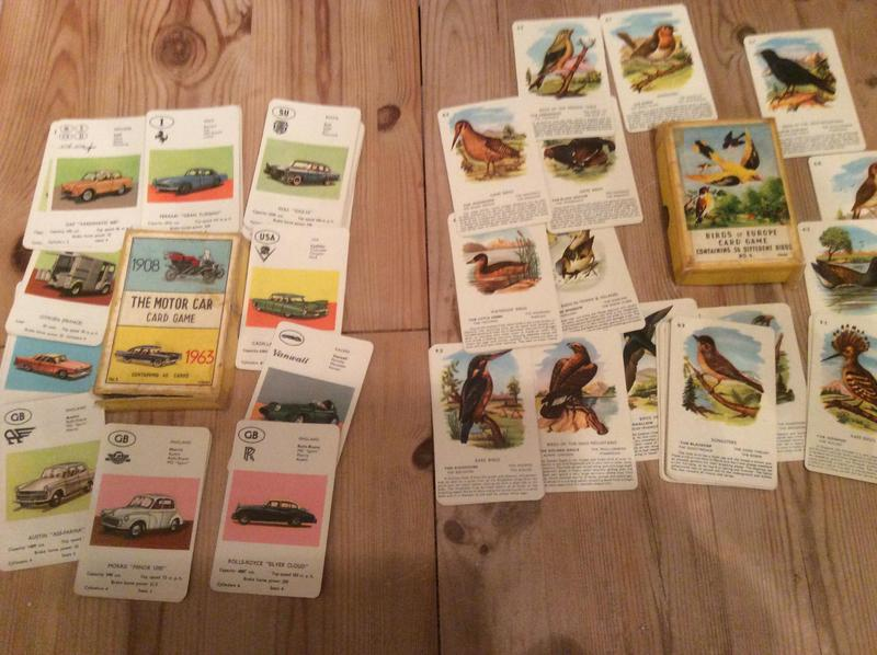 Vintage picture card games
