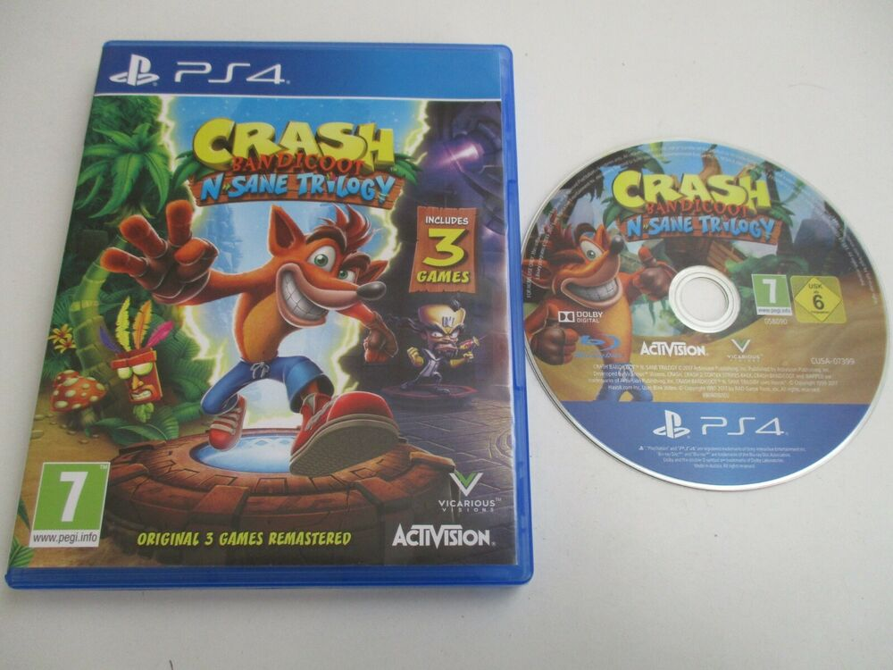 Crash Bandicoot N Sane Trilogy Sony PlayStation 4 PS4 Game