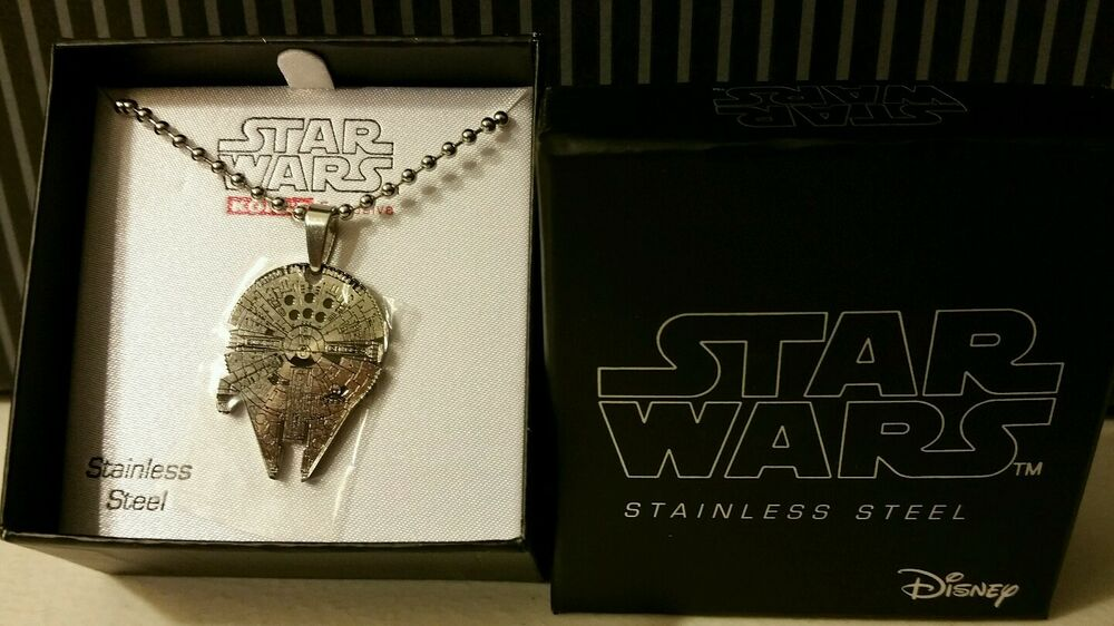 NEW Star Wars Jewelry Millennium Falcon Stainless Steel