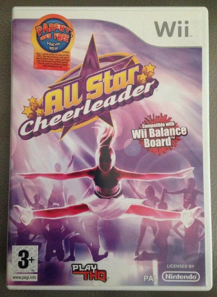 Wii Game All Star Cheerleader (Nintendo Wii, ) VG 347