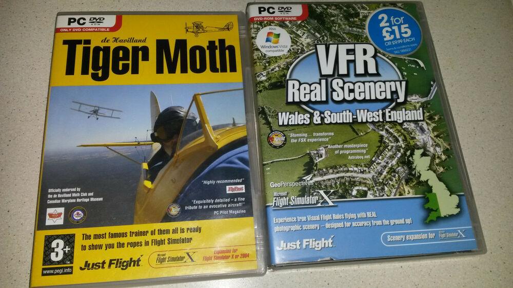 tiger moth pc expansion for flight simulator x / vfr real