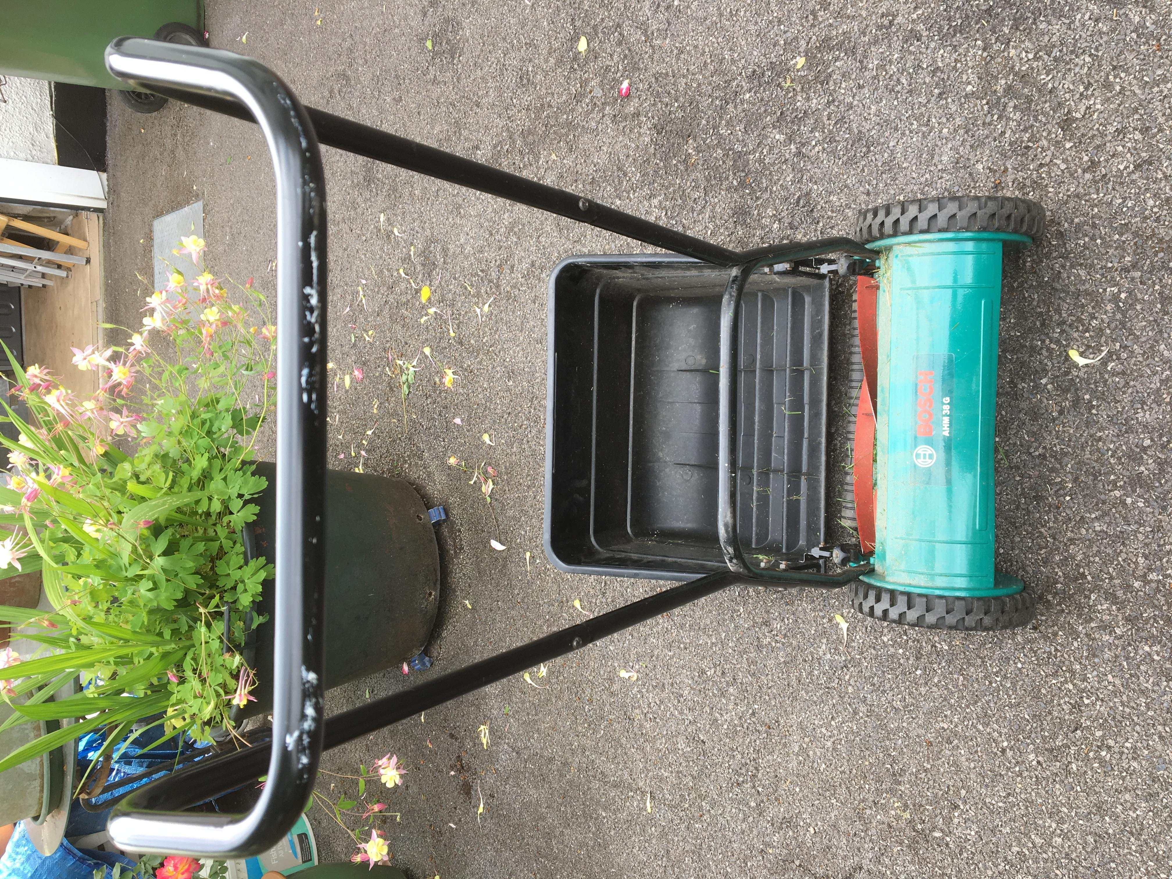 BOSCH push lawn mower in good working order