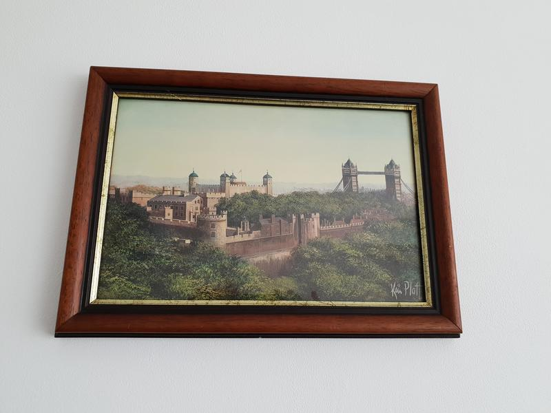 Tower of London picture signed by the artist Kevin Platt