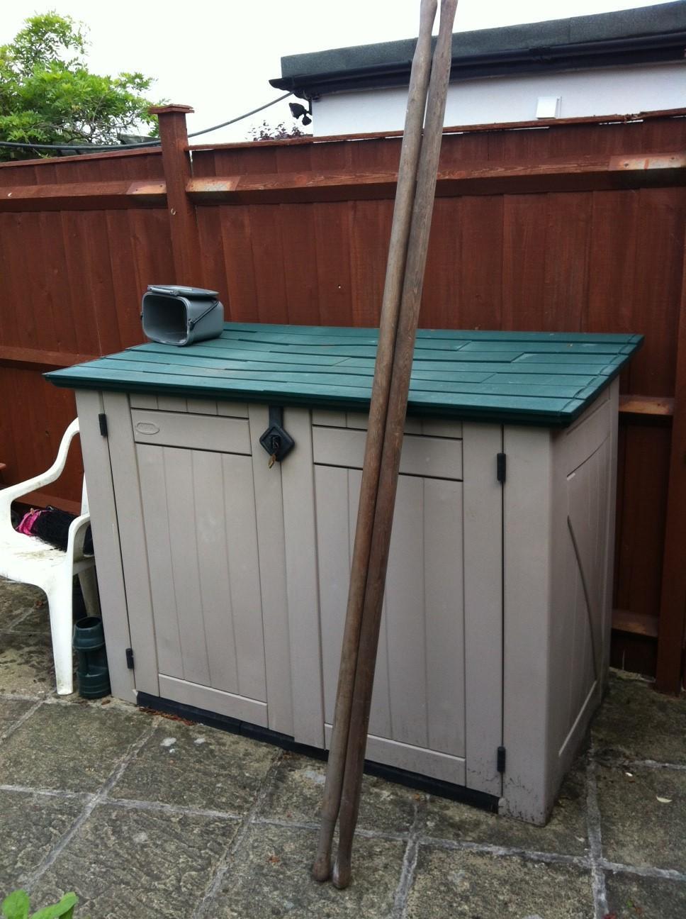 2 x Vintage Wooden Stretcher Poles for sale - nice bargain -