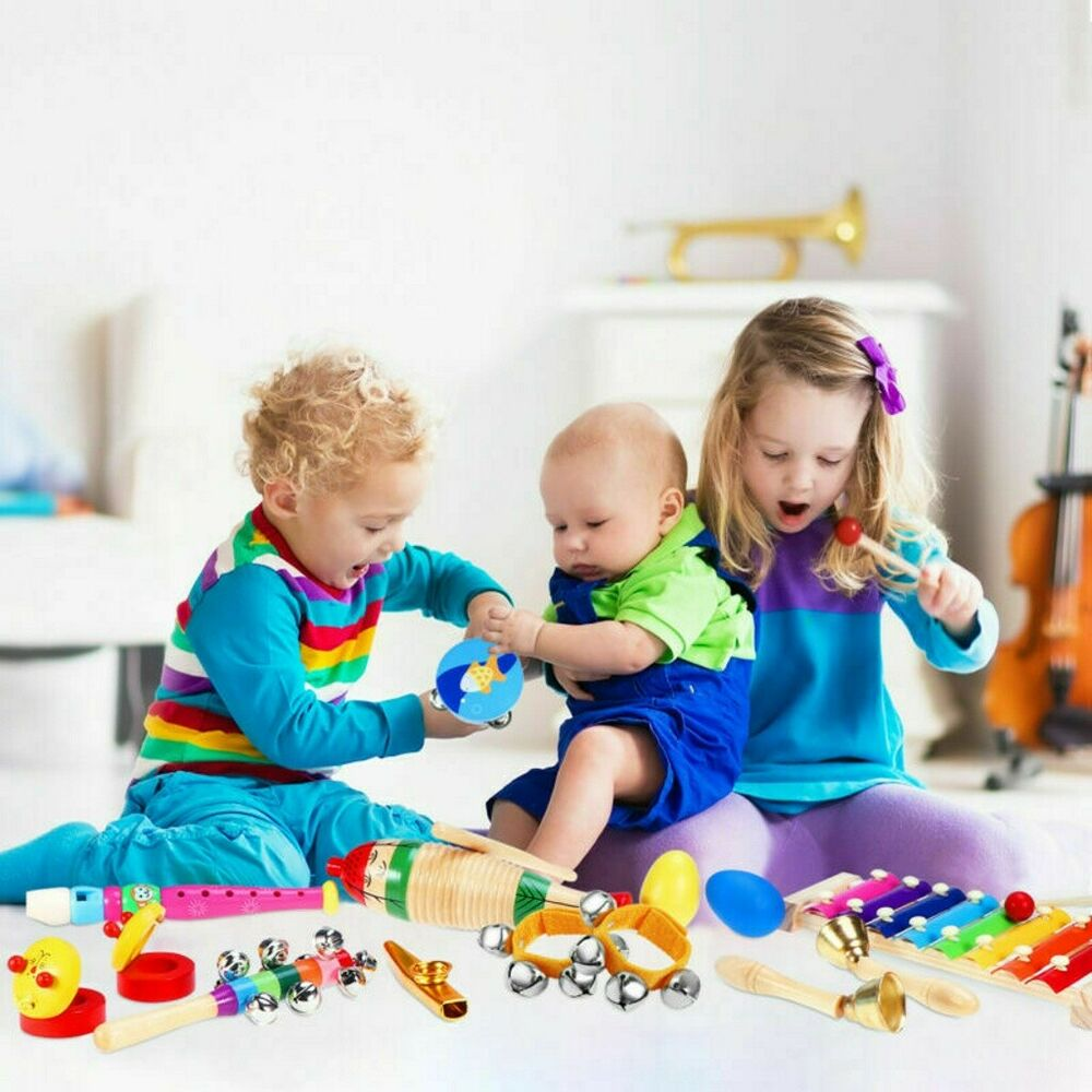 23X Wooden Kids Music Instruments Kit Children Toddlers Toys